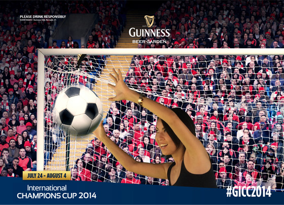 Capturing Guinness branded photos at the event