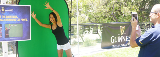 Capturing green screen photos at the Guinness event