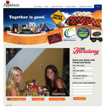 Applebees Restaurant Camp Broadway Microsite Photo