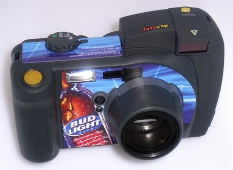Fotozap Camera with a Bud Light Camera Wrap