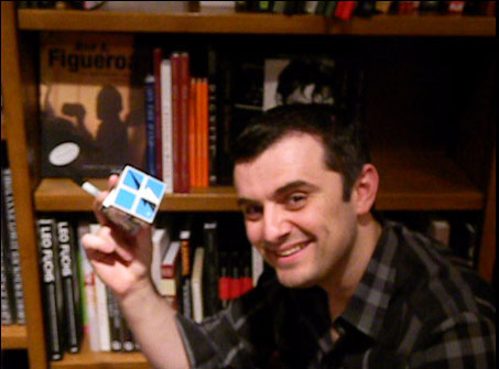 GaryVee holding the Picture Marketing cube