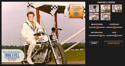 Harley-Davidson Insert-a-Face Microsite App Game