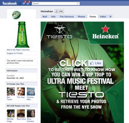 Heineken Facebook Page