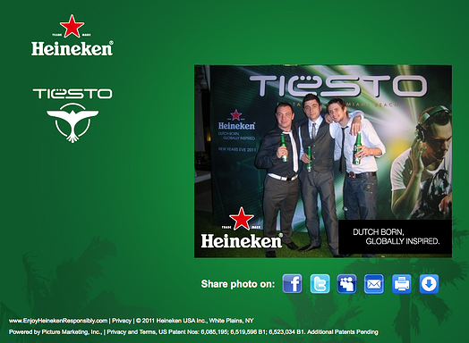 Heineken Tiesto Photo View Page