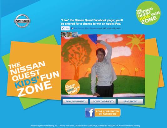 Nissan Quest Kids' Fun Zone Microsite for LA Auto Show