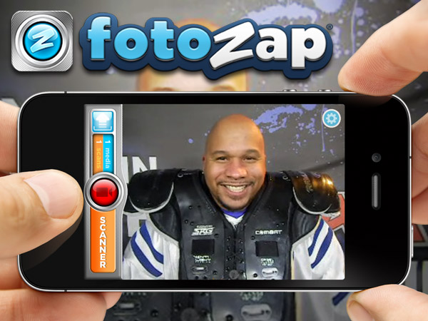 Capture videos or photos with the Fotozap app or Camera