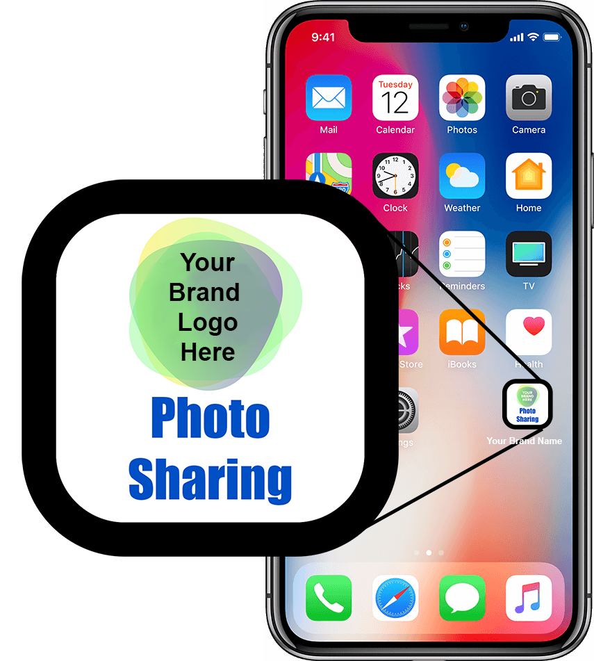 Your Brand Logo Here App Icon on iPhone