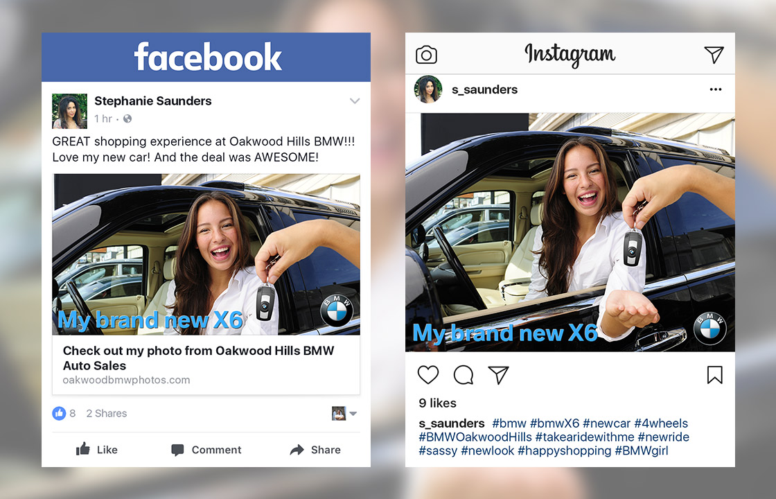 Control Branding of Social Sharing