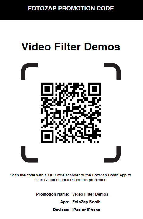 Video  Filter Demo